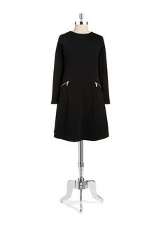 MICHAEL MICHAEL KORS Long-Sleeved Fit-and-Flare Dress