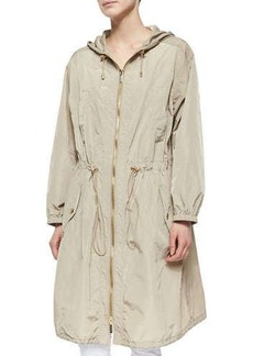 MICHAEL Michael Kors Long Tech Drawstring Anorak  Long Tech Drawstring Anorak