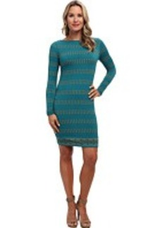 MICHAEL Michael Kors L/S Boatneck Border Dress