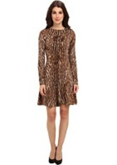 MICHAEL Michael Kors L/S Leo Flare Sweater Dress