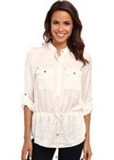 MICHAEL Michael Kors L/S Shirt w/ Drawstring Waist