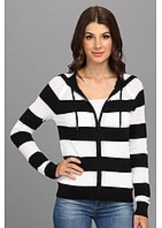 MICHAEL Michael Kors L/S Stripe Zip Hoodie Sweater