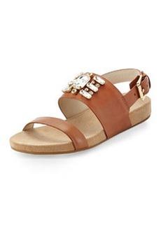 MICHAEL Michael Kors Luna Crystal Sandal, Luggage