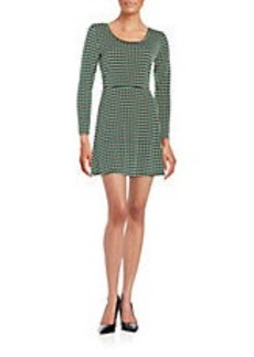 MICHAEL MICHAEL KORS Madeline Long-Sleeved Shift Dress