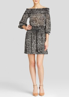 MICHAEL Michael Kors Mandera Off Shoulder Smocked Dress