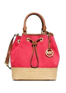 MICHAEL Michael Kors Marina Large Espadrille Shoulder Bag, Watermelon