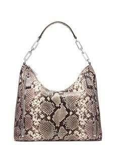 MICHAEL MICHAEL KORS Matilda Large Snakeprint Leather Shoulder Bag