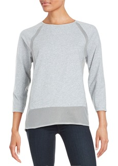 MICHAEL MICHAEL KORS Mesh-Accented Sweatshirt