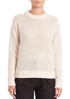 MICHAEL MICHAEL KORS Mesh-Knit Crewneck Sweater