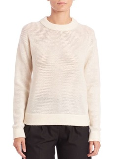MICHAEL MICHAEL KORS Mesh-Knit Crewneck Sweater
