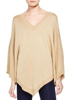 MICHAEL Michael Kors Metallic Poncho Sweater