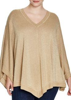 MICHAEL Michael Kors Metallic Poncho Sweater