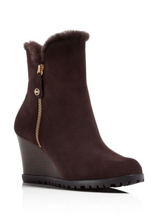MICHAEL Michael Kors Michael Kors Whitaker Shearling-Lined Wedge Booties