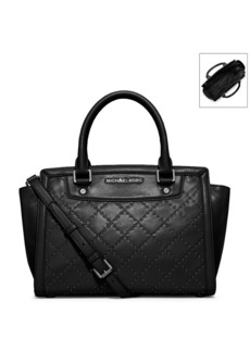 MICHAEL Michael Kors® Micro-Stud Selma Medium Quilted Leather Satchel