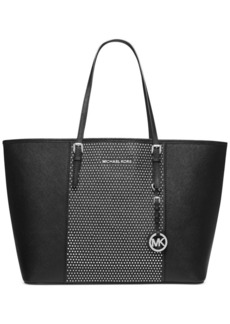 MICHAEL Michael Kors Microstud Center Stripe Medium Travel Tote
