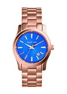 MICHAEL Michael Kors Mid-Size Rose Golden Stainless Steel Runway Three-Hand Watch