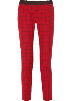MICHAEL Michael Kors Miranda checked stretch-cotton straight-leg pants