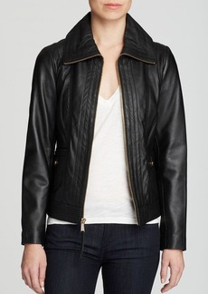 MICHAEL Michael Kors Missy Wing Leather Jacket