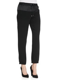 MICHAEL Michael Kors Mixed-Fabric Track Pants