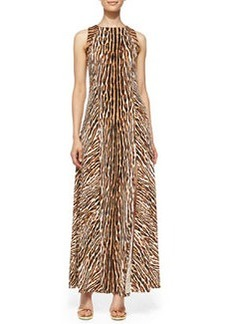 MICHAEL Michael Kors Mixed-Print Studded Maxi Dress