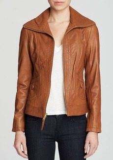 MICHAEL Michael Kors Mizzy Wing Leather Jacket
