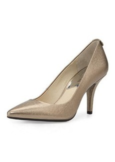 MICHAEL Michael Kors MK Flex Mid-Heel Metallic Pump, Nickel