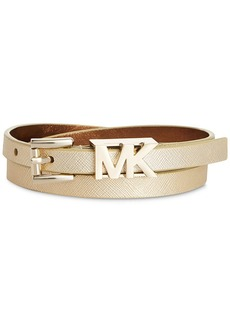 MICHAEL Michael Kors MK Logo Saffiano Leather Belt