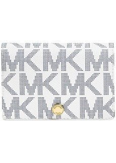 MICHAEL Michael Kors MK Signature Saffiano Medium Slim Wallet
