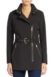 MICHAEL MICHAEL KORS Mockneck Collar Fitted Coat