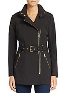 MICHAEL MICHAEL KORS Mockneck Collar Fitted Coat