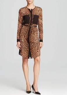 MICHAEL Michael Kors Mowani Animal Print Shirt Dress