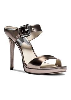 MICHAEL Michael Kors Mule Sandals - Beverly Buckled Metallic