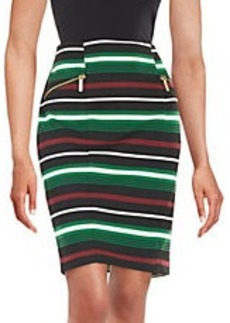 MICHAEL MICHAEL KORS Multi-Striped Pencil Skirt