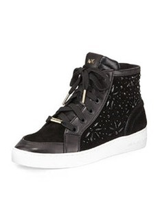 MICHAEL Michael Kors Nadine Embellished High Top Sneaker