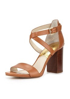 MICHAEL Michael Kors Nadja Cross-Strap City Sandal, Luggage