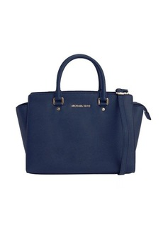 MICHAEL Michael Kors navy leather large 'Selma' top handle convertible tote