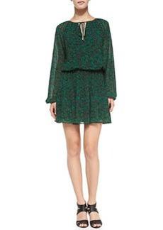MICHAEL Michael Kors Nila Feather-Print Easy Dress