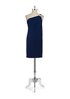 MICHAEL MICHAEL KORS One Shoulder Drape Dress