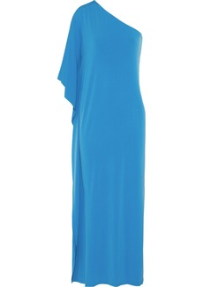 MICHAEL Michael Kors One-shoulder stretch-jersey maxi dress