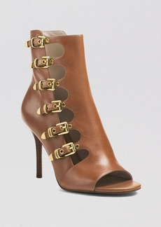 MICHAEL Michael Kors Open Toe Booties - Cassie High Heel