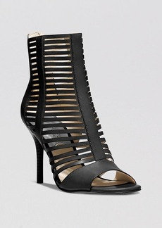 MICHAEL Michael Kors Open Toe Caged Booties - Odelia High Heel