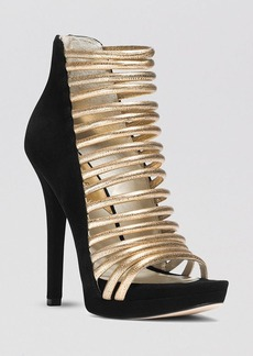 MICHAEL Michael Kors Open Toe Caged Platform Evening Sandals - Cameron High Heel