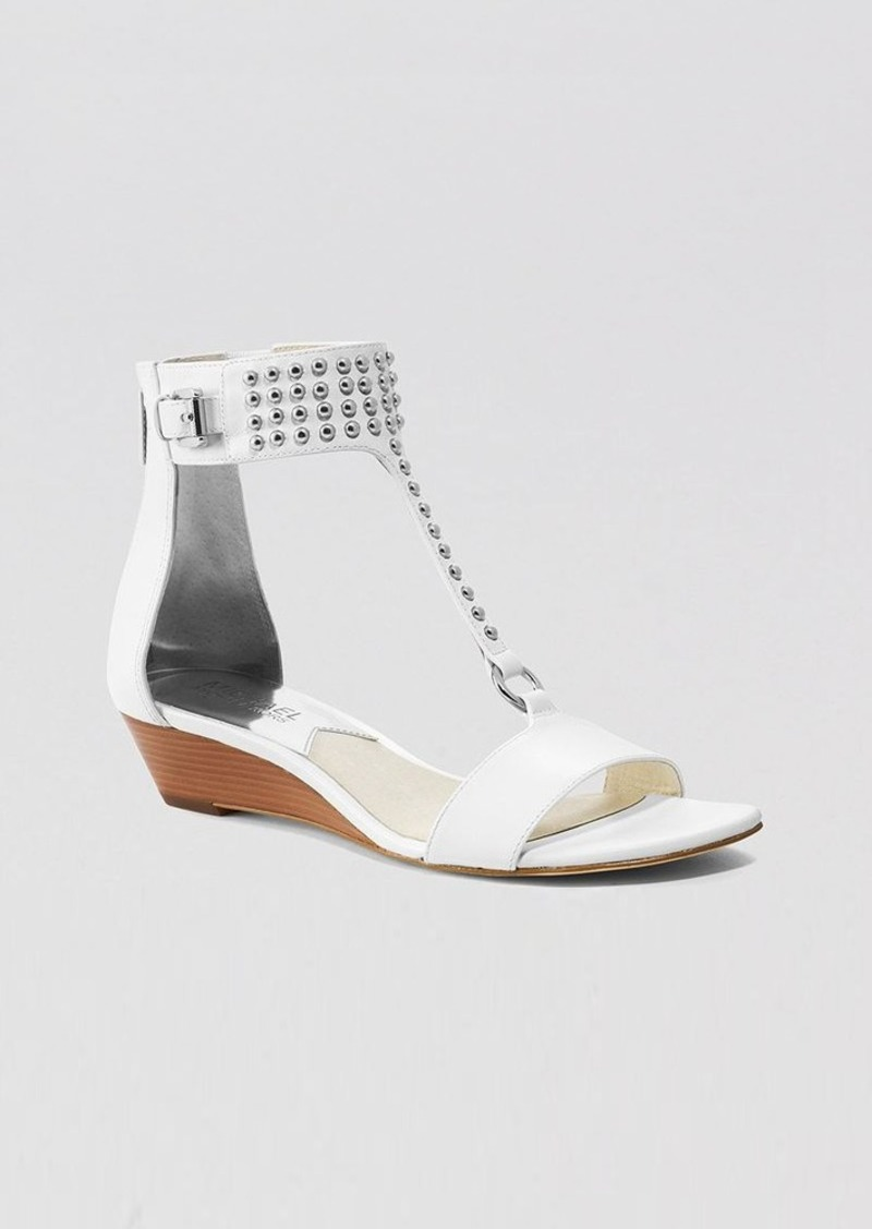 MICHAEL Michael Kors Open Toe Demiwedge Sandals - Celena Studded