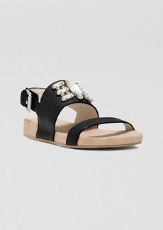 MICHAEL Michael Kors Open Toe Flat Sandals - Luna Jeweled
