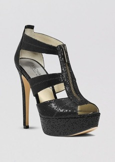 MICHAEL Michael Kors Open Toe Platform Evening Sandals - Berkley High Heel