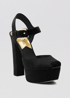MICHAEL Michael Kors Open Toe Platform Pumps - London High Heel