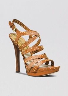 MICHAEL Michael Kors Open Toe Platform Sandals - Arianna High Heel
