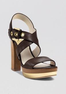 MICHAEL Michael Kors Open Toe Platform Sandals - Calder High Heel