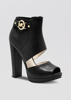 MICHAEL Michael Kors Open Toe Platform Sandals - Wyatt High Heel