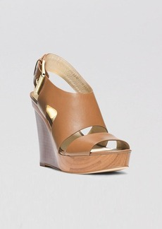 MICHAEL Michael Kors Open Toe Platform Slingback Wedge Sandals - Carla